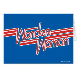 Wonder Woman Red and Blue Stripe Logo Card
