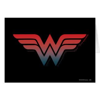 Wonder Woman Red Blue Gradient Logo Card