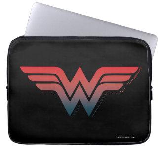 Wonder Woman Red Blue Gradient Logo Laptop Sleeve