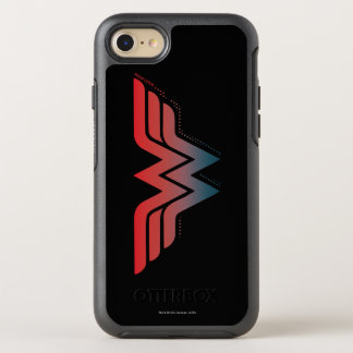 Wonder Woman Red Blue Gradient Logo OtterBox Symmetry iPhone 7 Case