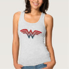 Wonder Woman Red Blue Gradient Logo Tank Top