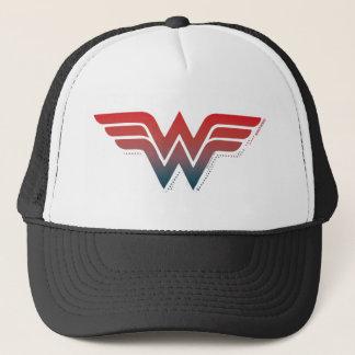 Wonder Woman Red Blue Gradient Logo Trucker Hat