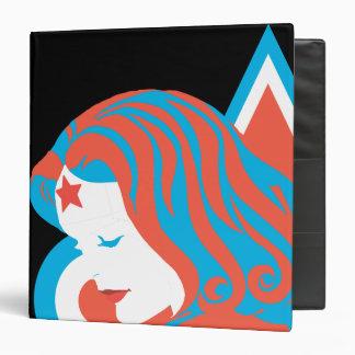 Wonder Woman Red & Blue Star 3 Ring Binder
