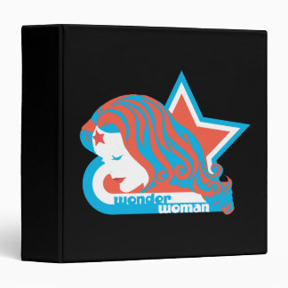 Wonder Woman Red & Blue Star Binder