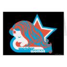 Wonder Woman Red & Blue Star Card
