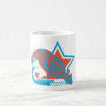 Wonder Woman Red & Blue Star Classic White Coffee Mug