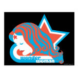 Wonder Woman Red & Blue Star Post Card