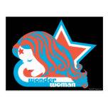Wonder Woman Red & Blue Star Postcard