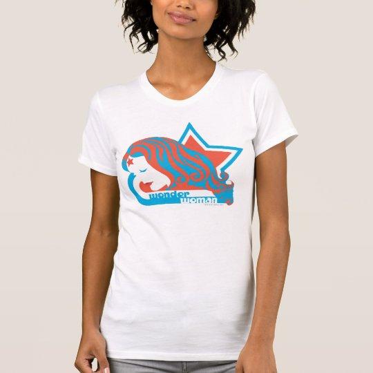 Wonder Woman Red & Blue Star T-Shirt