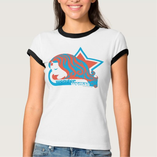 Wonder Woman Red & Blue Star T Shirt