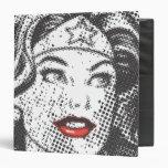 Wonder Woman Red Lips 3 Ring Binder