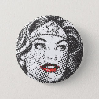 Wonder Woman Red Lips Button