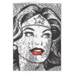 Wonder Woman Red Lips Greeting Cards