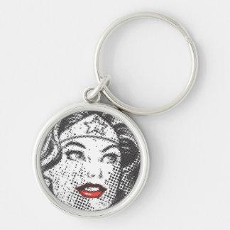 Wonder Woman Red Lips Key Chain