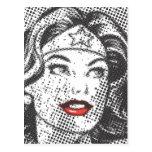 Wonder Woman Red Lips Postcard