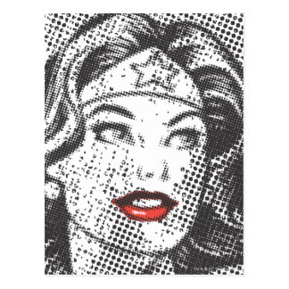Wonder Woman Red Lips Postcard