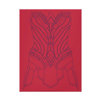Wonder woman bodice gifts on zazzle wonder woman red amp navy armor outline canvas print pronofoot35fo Choice Image