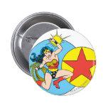 Wonder Woman Red Star 2 Inch Round Button