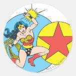 Wonder Woman Red Star Classic Round Sticker