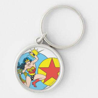 Wonder Woman Red Star Keychain