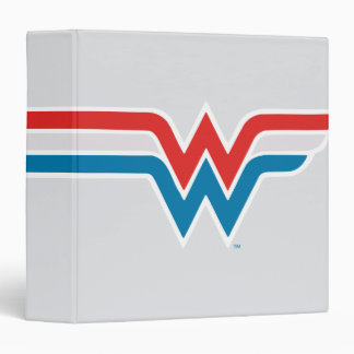 Wonder Woman Red White and Blue Logo Binder