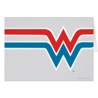 Wonder Woman Red White and Blue Logo Card