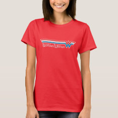 Wonder Woman Red White And Blue Logo T-shirt at Zazzle