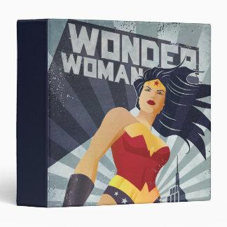 Wonder Woman Retro City Sunburst Binder