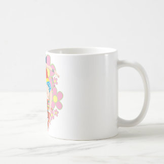 Wonder Woman Retro Flowers Classic White Coffee Mug