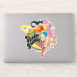 Wonder Woman Retro Flowers Sticker