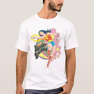 Wonder Woman Retro Flowers T-Shirt