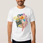 Wonder Woman Retro Flowers T-shirts