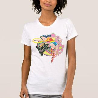 Wonder Woman Retro Flowers T Shirts