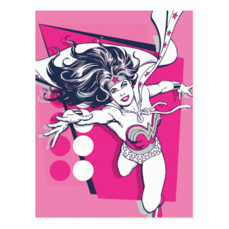 Wonder Woman Retro Glam Character Art Postcard
