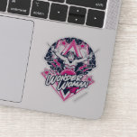 Wonder Woman Retro Glam Rock Graphic Sticker