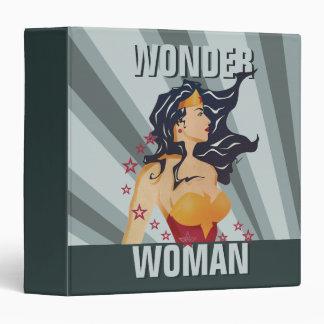 Wonder Woman Retro Profile Sunburst Binder