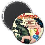 Wonder Woman Runaway Time Express 2 Inch Round Magnet