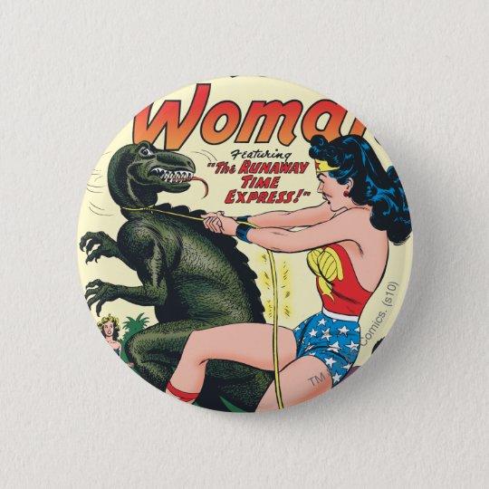 Wonder Woman Runaway Time Express Pinback Button