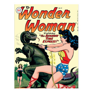 Wonder Woman Runaway Time Express Postcard
