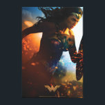 """Wonder Woman Running on Battlefield Canvas Print<br><div class=""""desc"""">Check out this iconic Wonder Woman movie poster art of Wonder Woman running through the battlefields,  sparks of ricocheted bullets and explosions seen all around.</div>"""