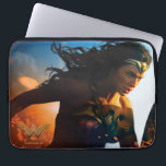 """Wonder Woman Running on Battlefield Laptop Sleeve<br><div class=""""desc"""">Check out this iconic Wonder Woman movie poster art of Wonder Woman running through the battlefields,  sparks of ricocheted bullets and explosions seen all around.</div>"""