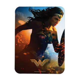 Wonder Woman Running on Battlefield Magnet