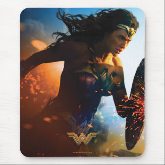 Wonder Woman Running on Battlefield Mouse Pad