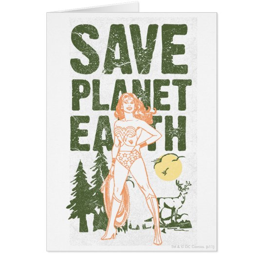 Wonder Woman Save Planet Earth Card