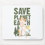 Wonder Woman Save Planet Earth Mouse Pad