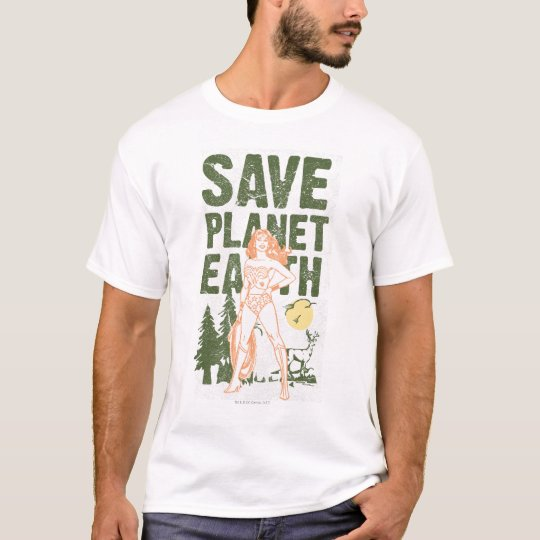 Wonder Woman Save Planet Earth T-Shirt