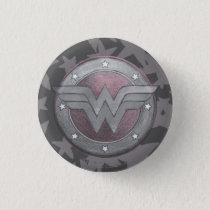 Wonder Woman Shield Pattern Button