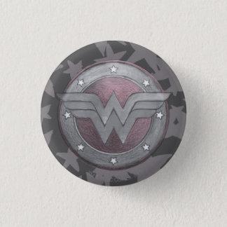 Wonder Woman Shield Pattern Button