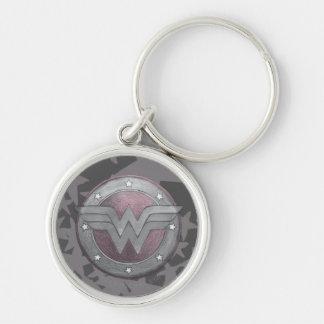 Wonder Woman Shield Pattern Keychain