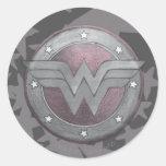 Wonder Woman Shield Pattern Stickers